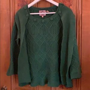 Juicy Couture Wool Sweater w detachable scarf